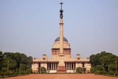 Presidente Nueva Deli la India de la residencia de Rashtrapati Imagenes de archivo