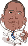 Presidente Obama como doctor libre illustration