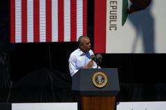 Presidente Obama habla en la vigésima cumbre anual 24 del lago Tahoe Imagenes de archivo
