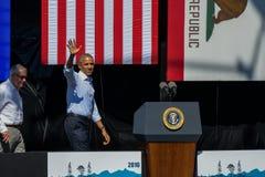 Presidente Obama y senador Reid en la vigésima cumbre anual del lago Tahoe Fotos de archivo