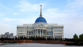 Presidente Palace a Astana fotografie stock libere da diritti