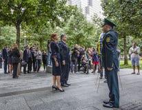 Presidente Petro Poroshenko al mem di ground zero del World Trade Center Fotografia Stock