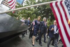 Presidente Petro Poroshenko en el mem del punto cero del World Trade Center Imagenes de archivo