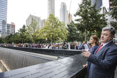 Presidente Petro Poroshenko no mem do ponto zero do World Trade Center Foto de Stock