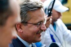 Presidente polaco Imágenes de archivo libres de regalías