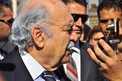 Presidente provisional tunecino Fouad Mebazaa Foto de archivo