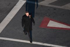 Presidente rumano Klaus Iohannis foto de archivo
