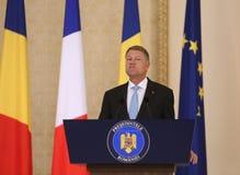 Presidente rumeno Klaus Iohannis immagini stock libere da diritti