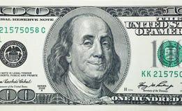 Presidente satisfeito Benjamin Franklin Fotografia de Stock Royalty Free
