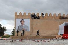 Presidente tunecino anterior Ben Ali en Kairouan Fotos de archivo libres de regalías