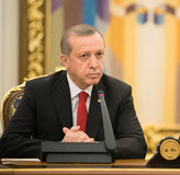 Presidente turco Recep Tayyip Erdogan Fotografia Stock Libera da Diritti