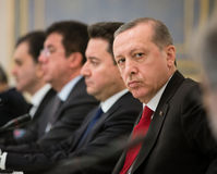 Presidente turco Recep Tayyip Erdogan Fotografia de Stock Royalty Free