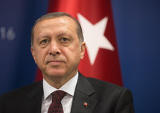 Presidente turco Recep Tayyip Erdogan Fotografia Stock
