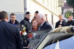 Presidente Vaclav Klaus, peregrinação nacional, Boleslav idoso, 28 9 2017 Fotografia de Stock