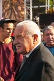 Presidente Vaclav Klaus, peregrinação nacional, Boleslav idoso, 28 9 2017 Fotos de Stock Royalty Free