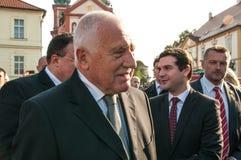 Presidente Vaclav Klaus, peregrinação nacional, Boleslav idoso, 28 9 2017 Imagem de Stock Royalty Free