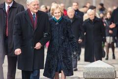 Presidente Valdas Adamkus Fotografia de Stock Royalty Free