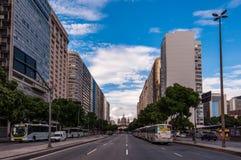 Presidente Vargas aveny i Rio de Janeiro royaltyfria bilder