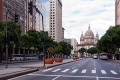 Presidente Vargas aveny i Rio de Janeiro royaltyfri foto