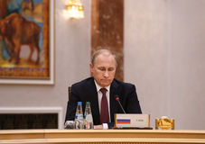 Presidente Vladimir Putin do russo Fotografia de Stock