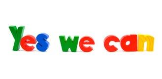 Presidente Yes del lema podemos imagen de archivo libre de regalías
