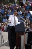 Presidenten Barack Obama visas på presidentkampanjen samlar, Royaltyfria Foton