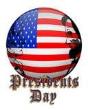 Presidenten Day American Flag Orb Stock Afbeelding