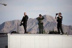Presidentens säkerhetstjänstbildläsningsåhörare Fotografering för Bildbyråer