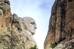 Presidenter av Mount Rushmore den nationella monumentet Royaltyfri Bild