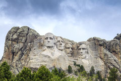 Presidenter av Mount Rushmore den nationella monumentet Royaltyfri Fotografi