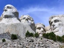 Presidenters framsidor på Mount Rushmore, South Dakota, USA arkivbilder