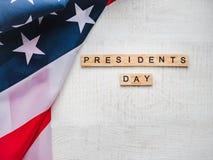 Presidentes 'dia Cartão bonito Vista superior foto de stock