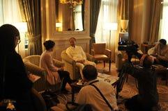 Presidentes Chen Feng, multimillonario chino del grupo de HNA en el hotel de Dolder en ricos del ¼ de ZÃ fotografía de archivo