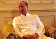 Presidentes Chen Feng, multimillonario chino del grupo de HNA en el hotel de Dolder en ricos del ¼ de ZÃ fotografía de archivo libre de regalías