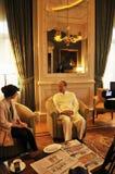 Presidentes Chen Feng, multimillonario chino del grupo de HNA en el hotel de Dolder en ricos del ¼ de ZÃ imagenes de archivo