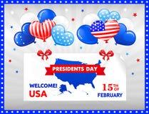 PRESIDENTES DAY en los E.E.U.U. Imagen de archivo libre de regalías
