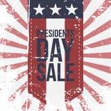 Presidentes Day Sale Label en fondo rayado libre illustration