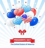 PRESIDENTES DIA nos EUA ilustração do vetor