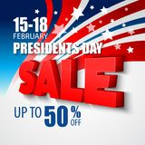 Presidentes Dia Vetor Fundo Fotografia de Stock Royalty Free