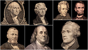Presidentes dos Estados Unidos do retrato imagem de stock royalty free