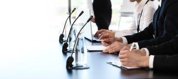 Presidentes en la reunión de negocios Foto de archivo libre de regalías