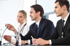 Presidentes en la reunión de negocios Imagen de archivo libre de regalías