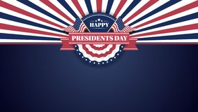 Presidentes felices Day Banner Background y tarjetas de felicitación Ilustración del vector stock de ilustración