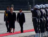 Presidentes Tarja Halonen e Nguyen Minh Triet Foto de Stock Royalty Free