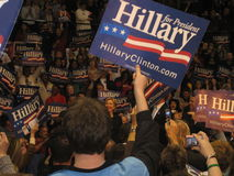 Presidentiële de campagneverzameling van Hillary Clinton in Bowie State University 2008 Stock Fotografie