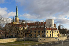 Presidentiële het kasteelcitadel van Riga stock foto