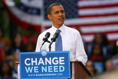Presidentiële Kandidaat, Barack Obama Stock Afbeelding