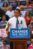 Presidentiële Kandidaat, Barack Obama Stock Foto's