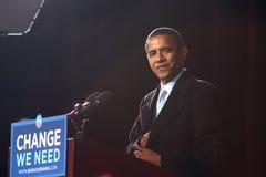 Presidentiële Kandidaat Barack Obama Stock Foto