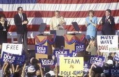 Presidentiële kandidaat Bob Dole Stock Foto's